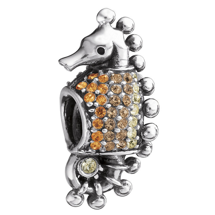 Chamilia Sterling Silver Swarovski Crystal Seahorse Bead - Product number 1986767