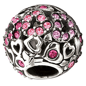 Chamilia Pink Swarovski Crystal Captured Hearts Bead - Product number 1986848