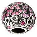 Chamilia Silver & Swarovski Elements Captured Hearts Bead - Product number 1986848