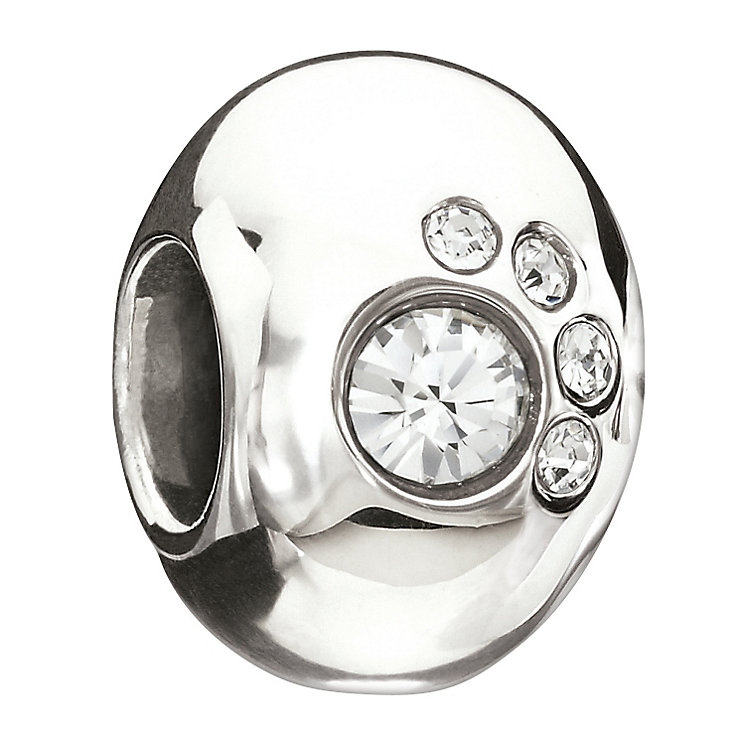 Chamilia Sterling Silver Swarovski Crystal Paw Print Bead - Product number 1986953