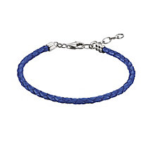 Chamilia Sterling Silver Metallic Blue Leather Bracelet - Product number 1987410