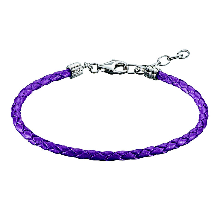 Chamilia Purple Leather Braid Bracelet - Product number 1987437