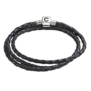 "Chamilia Black Leather Braid 20.7"" Bracelet - Product number 1987461"