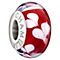 Chamilia Silver Red Dichroic Murano Glass Hearts Bead - Product number 1987615