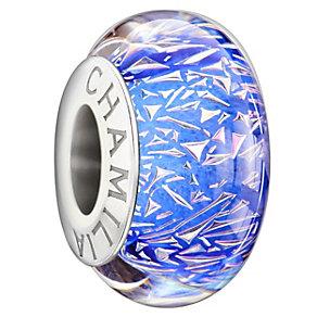Chamilia Silver Blue Dichroic Murano Glass Confetti Bead - Product number 1987666