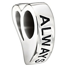 Chamilia Sterling Silver Swarovski Crystal 'Always' Bead - Product number 1987690