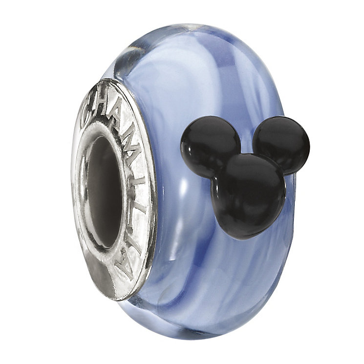 Chamilia Sterling Silver Blue Murano Glass Mickey Bead - Product number 1988018