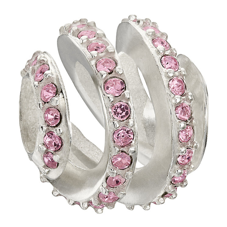 Chamilia Silver Modern Glamour Pink Swarovski Crystal Bead - Product number 1988220
