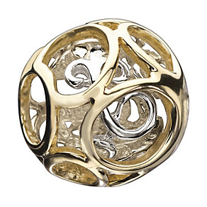Chamilia Sterling Silver & 14ct Gold Elegance Bead - Product number 1988557
