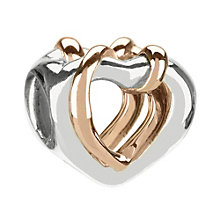Chamilia Sterling Silver & 14ct Rose Gold Hearts Bead - Product number 1988565