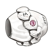 Chamilia Silver Light Pink Swarovski Crystal 'Mom' Bead - Product number 1988581