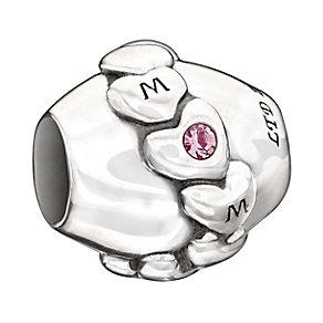 Chamilia Silver Light Pink Swarovski Crystal 'Mom' Bead - Product number 1988581