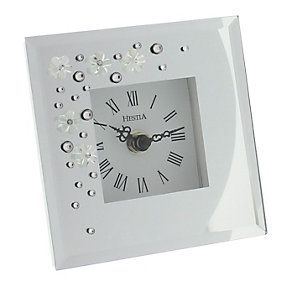 Glass & Crystal Square Clock - Product number 1988832