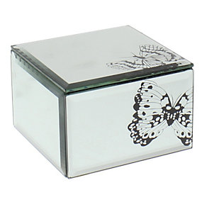 Small Mirror Butterfly Patterned Trinket Box - Product number 1988948