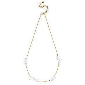Henry Holland Gold-Plated & White Scribble Chain Necklace - Product number 1989073