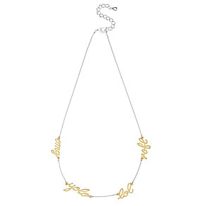 Henry Holland White Gold-Plated & Brass Scribble Necklace - Product number 1989081