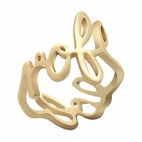 Henry Holland Brass Gold-Plated Scribble Ring Size Small - Product number 1989103