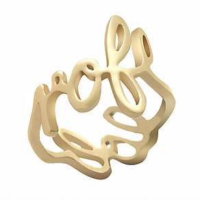 Henry Holland Brass Gold-Plated Scribble Ring Size Medium - Product number 1989111