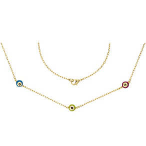 Henry Holland Gold-Plated Multi Coloured Bingo Ball Necklace - Product number 1989189