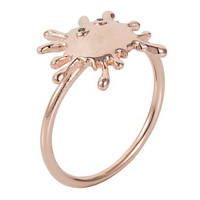 Henry Holland Rose Gold-Plated Splat Ring Size Small - Product number 1989561
