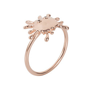 Henry Holland Rose Gold-Plated Splat Ring Size Medium - Product number 1989588