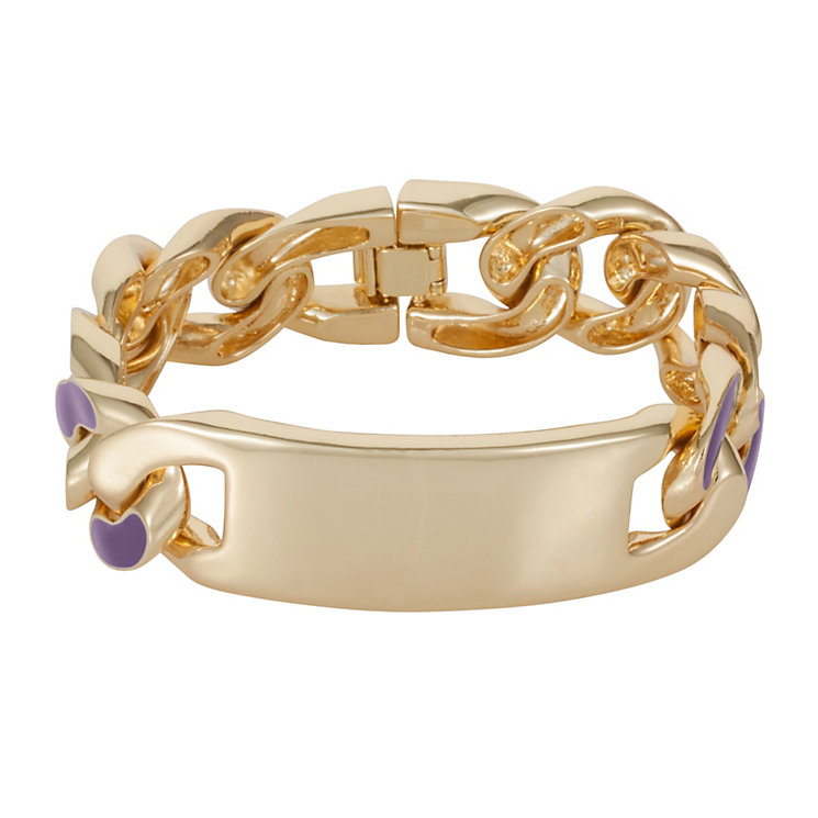 Henry Holland Gold-Plated Purple Enamel ID Bracelet - Product number 1989677