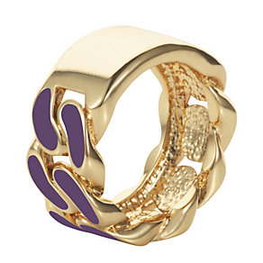 Henry Holland Gold-Plated Purple Enamel ID Ring - Product number 1989693
