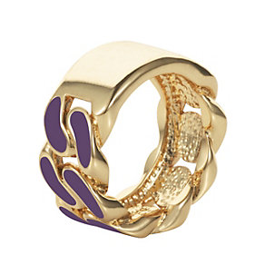 Henry Holland Gold-Plated Purple Enamel ID Ring Size Large - Product number 1996266