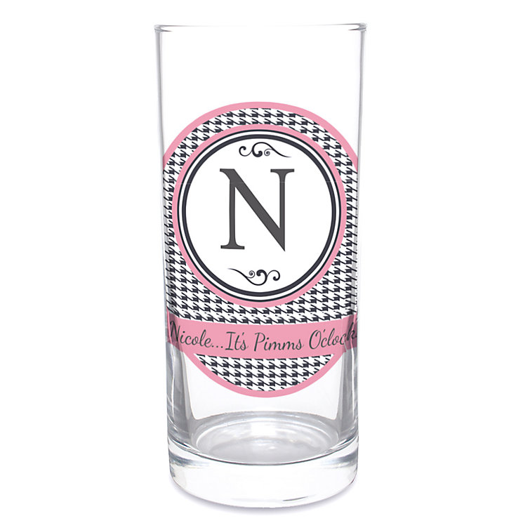 Personalised Hi-Ball Glass - Houndstooth Design - Product number 1996886