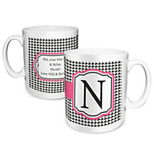 Personalised Mug - Houndstooth Design - Product number 1996940