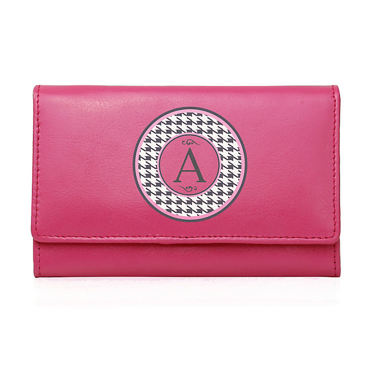 Personalised Pink Purse - Houndstooth Design - Product number 1997033