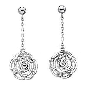 Hot Diamonds Eternal Rose Sterling Silver Drop Earrings - Product number 1997122