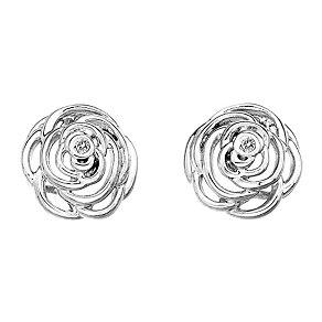 Hot Diamonds Eternal Rose Sterling Silver Stud Earrings - Product number 1997130