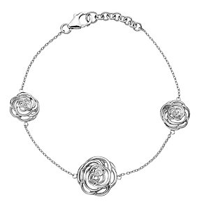 Hot Diamonds Eternal Rose Sterling Silver Bracelet - Product number 1997173