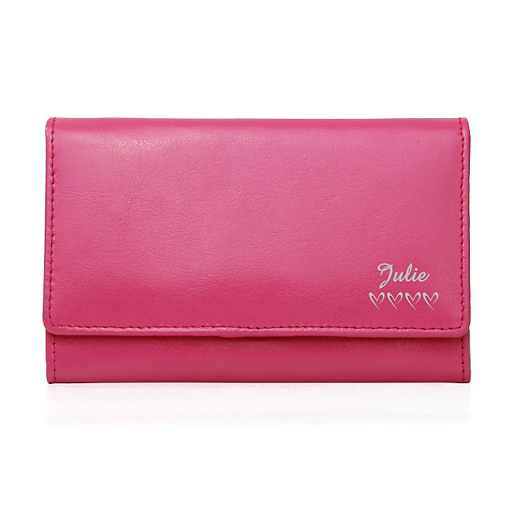 Personalised Pink Purse -  Name & Hearts Design - Product number 1997211