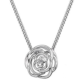 Hot Diamonds Eternal Rose Sterling Silver Pendant - Product number 1997238