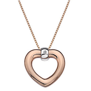 Hot Diamonds Just Add Love Two Colour Heart Pendant - Product number 1997297