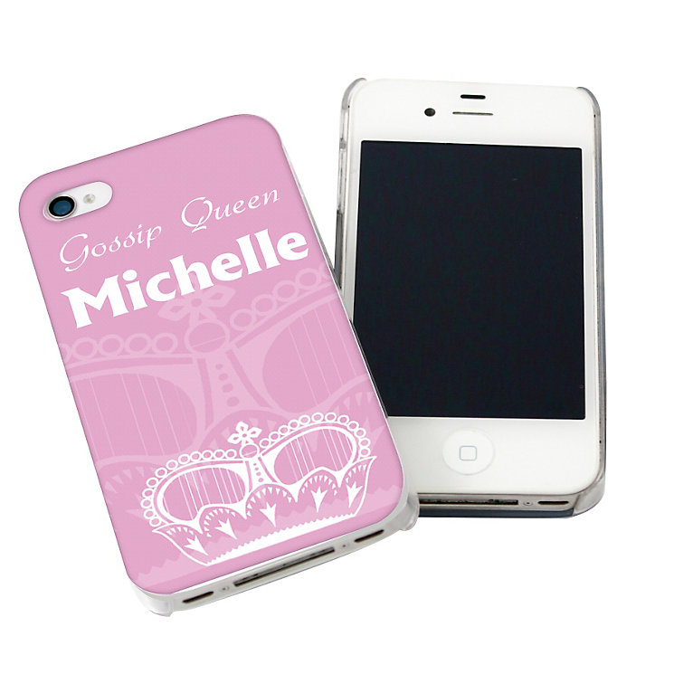 Personalised Pink iPhone Case - Crown Design - Product number 1997351