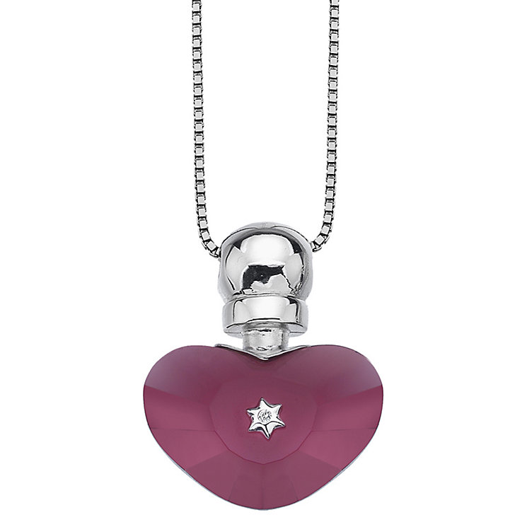 Hot Diamonds Love Potion Pink Glass Heart Bottle Pendant - Product number 1997408