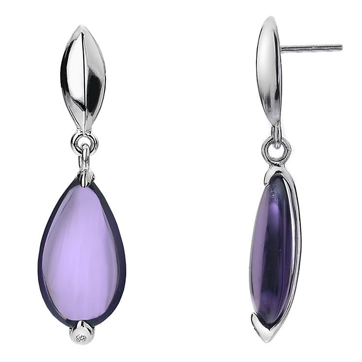 Hot Diamonds Sterling Silver Glass Teardrop Earrings - Product number 1997416