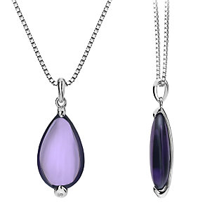 Hot Diamonds Sterling Silver Glass Teardrop Pendant - Product number 1997424