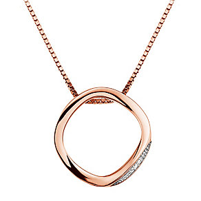 Hot Diamonds Simply Sparkle Rose-Gold Plated Pendant - Product number 1997459