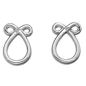 Hot Diamonds Sterling Silver Swirl Stud Earrings - Product number 1997467