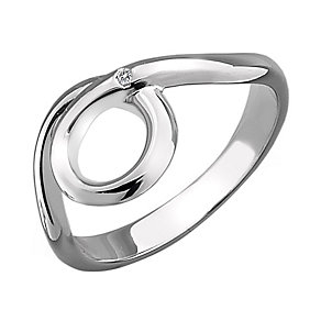 Hot Diamonds Sterling Silver Swirl Ring Size L - Product number 1997483