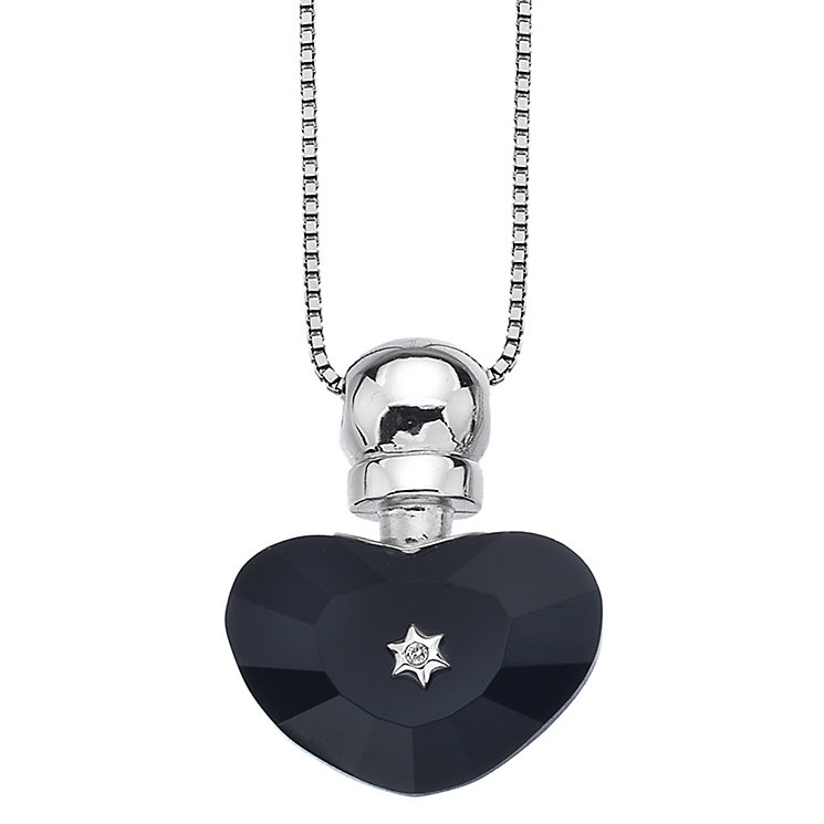 Hot Diamonds Love Potion Black Glass Heart Bottle Pendant - Product number 1997521