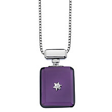 Hot Diamonds Love Potion Purple Glass Bottle Pendant - Product number 1997548