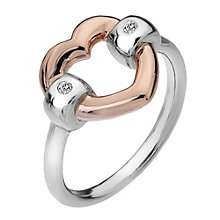Hot Diamonds Just Add Love Two Colour Heart Ring Size P - Product number 1997572