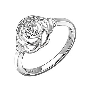 Hot Diamonds Eternal Rose Sterling Silver Ring Size P - Product number 1997688