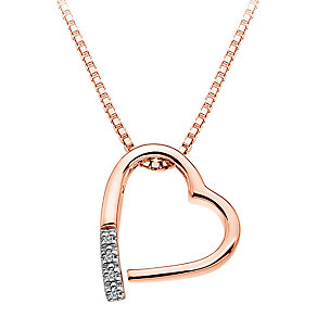 Hot Diamonds Just Add Love Rose Gold-Plated Heart Pendant - Product number 1998307