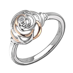 Hot Diamonds Eternal Rose Two Colour Ring Size L - Product number 1998323